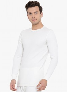 Monte Carlo Men's Solid Round Neck Thermal Set