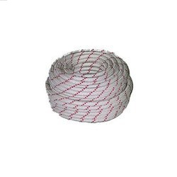 Indian Static Rope 8mm White+Red Lines