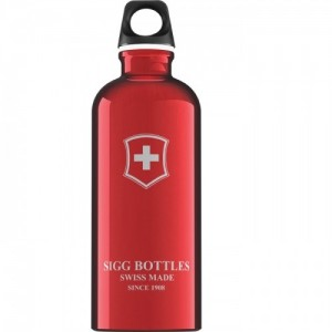 Sigg Water Bottle Made in Swiss 0.6 Litre Emblem Red