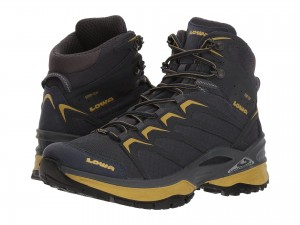 Lowa Men's Shoes Innox GTX Mid (Steel Blue/Mustard)