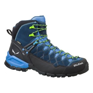 Salewa Men's ALP Trainer Mid GTX® Waterproof Hiking Boots(Blue)