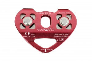 Edelweiss Double pulley 25kn Red