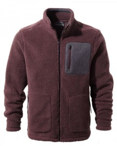 Craghoppers Edvin Fleece Jacket-Red Wine