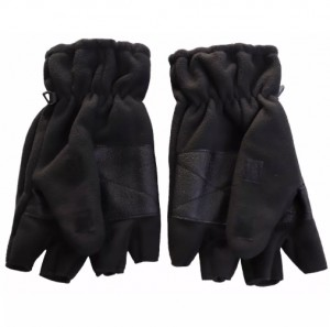 Cliff Climbers Hand Gloves Fleece Half cut with cover black