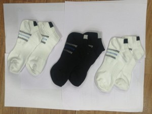 Hans Low Ankle Set of 3 Socks White-Black-White