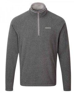 Craghoppers Selby Half Zip Winter Fleece Jacket-Pepper Black