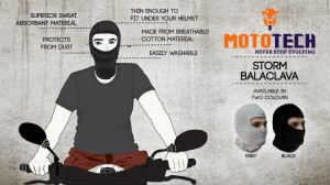 Mototech Cotton Storm Balaclava - Proudly Made in India