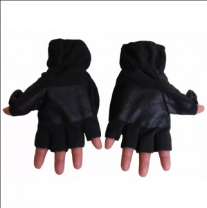 Cliff Climbers Hand Gloves Fleece Half-Cut with Black Cover