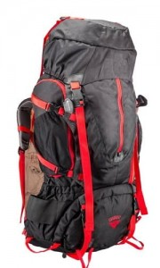 Cliff Climbers Everest 80 L Backpack - Black+Red