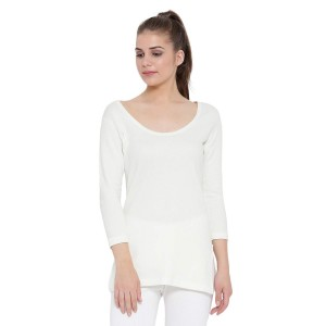 Monte Carlo Women White Round Neck Thermal
